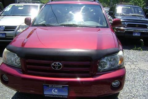 2004 Toyota Highlander for sale at Balic Autos Inc in Lanham MD
