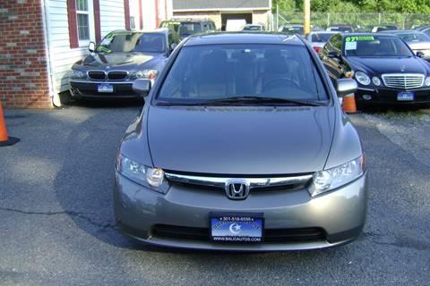 2008 Honda Civic for sale at Balic Autos Inc in Lanham MD
