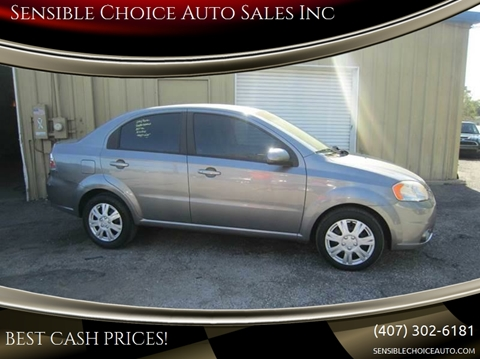 2011 Chevrolet Aveo for sale at Sensible Choice Auto Sales, Inc. in Longwood FL