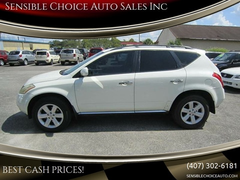 2006 Nissan Murano for sale at Sensible Choice Auto Sales, Inc. in Longwood FL