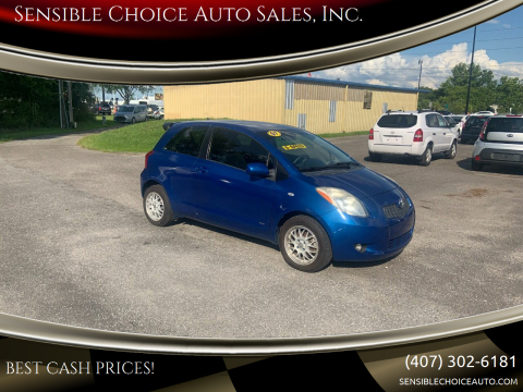 2007 Toyota Yaris for sale at Sensible Choice Auto Sales, Inc. in Longwood FL