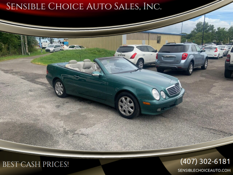 2000 Mercedes-Benz CLK for sale at Sensible Choice Auto Sales, Inc. in Longwood FL