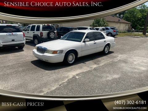 2002 Mercury Grand Marquis for sale at Sensible Choice Auto Sales, Inc. in Longwood FL