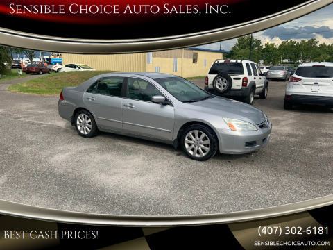 2007 Honda Accord for sale at Sensible Choice Auto Sales, Inc. in Longwood FL