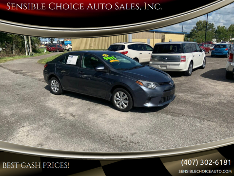 2015 Toyota Corolla for sale at Sensible Choice Auto Sales, Inc. in Longwood FL