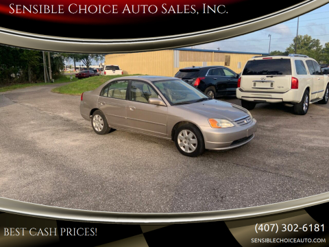 2001 Honda Civic for sale at Sensible Choice Auto Sales, Inc. in Longwood FL