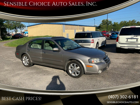 2003 Nissan Maxima for sale at Sensible Choice Auto Sales, Inc. in Longwood FL
