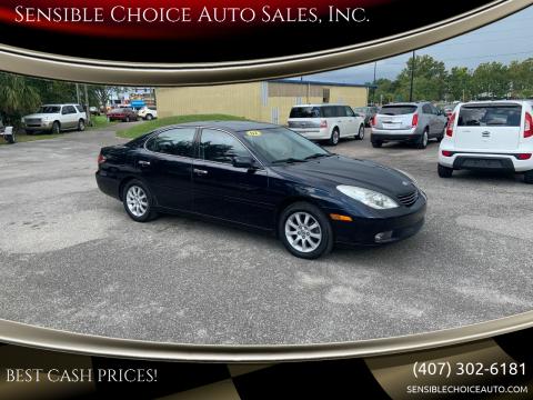 2002 Lexus ES 300 for sale at Sensible Choice Auto Sales, Inc. in Longwood FL