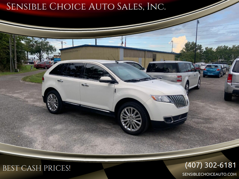 2013 Lincoln MKX for sale at Sensible Choice Auto Sales, Inc. in Longwood FL