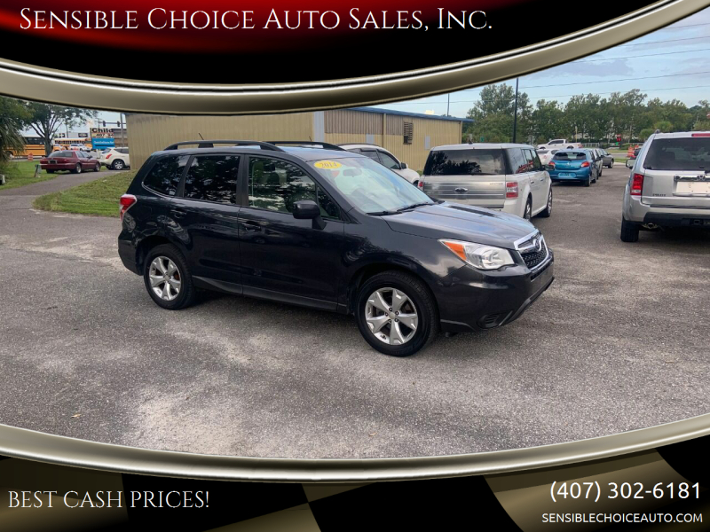 2014 Subaru Forester for sale at Sensible Choice Auto Sales, Inc. in Longwood FL