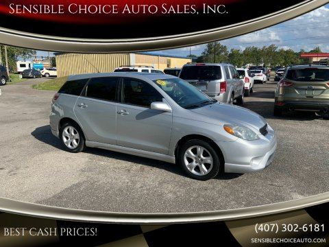 2007 Toyota Matrix for sale at Sensible Choice Auto Sales, Inc. in Longwood FL