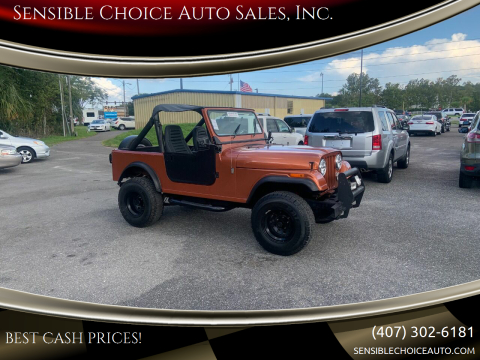 1986 Jeep CJ-7 for sale at Sensible Choice Auto Sales, Inc. in Longwood FL