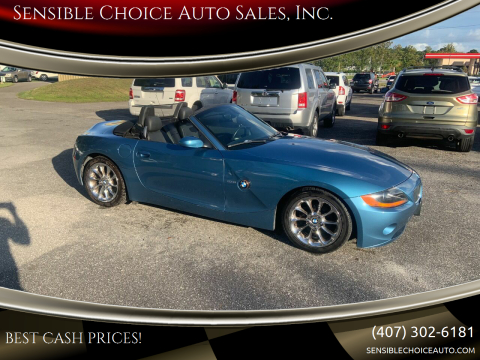 2003 BMW Z4 for sale at Sensible Choice Auto Sales, Inc. in Longwood FL