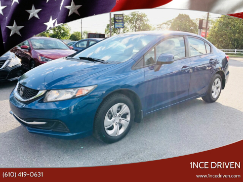 2013 Honda Civic for sale at 1NCE DRIVEN in Easton PA