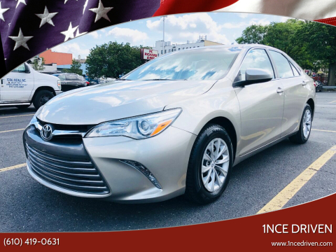 2016 Toyota Camry for sale at 1NCE DRIVEN in Easton PA
