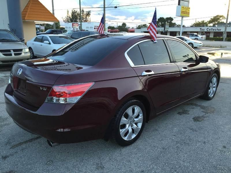2008 honda accord ex l v6 4dr sedan 5a in lake worth fl