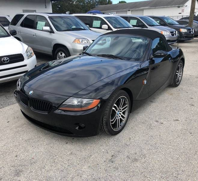 Bmw Z4 Convertible Black: 2003 Bmw Z4 2.5i 2dr Roadster In Lake Worth FL