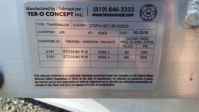 2018 Tero 80x18 14K Equipment - Brookfield NS