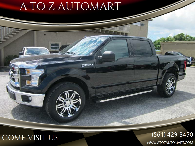 2016 Ford F 150 4x2 Xlt 4dr Supercrew 5 5 Ft Sb In West Palm Beach