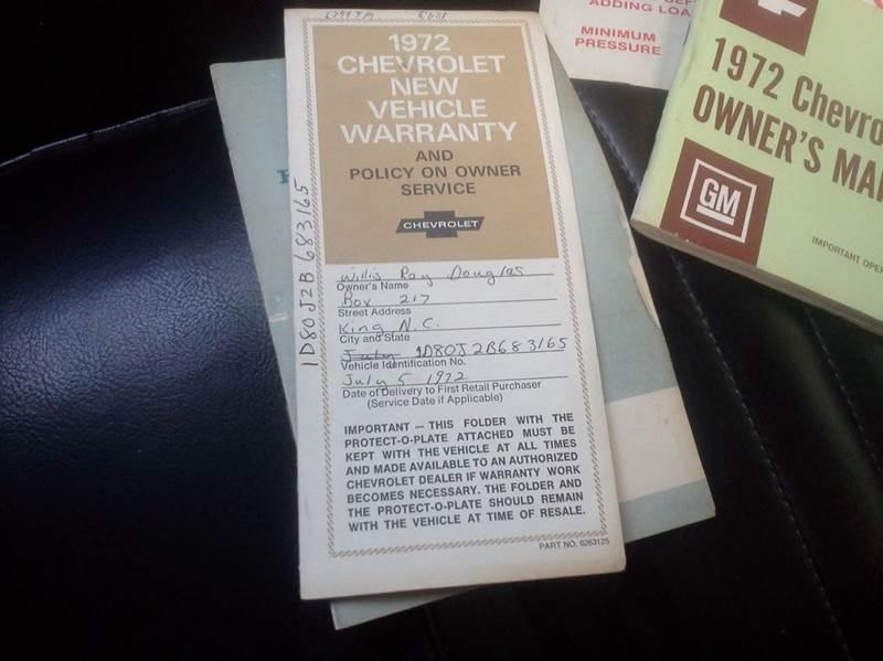 1972 Chevrolet El Camino Custom  - Troutman NC