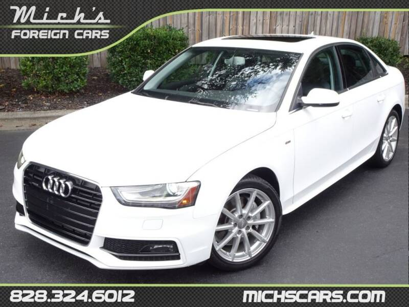 2014 Audi A4 for sale at Mich's Foreign Cars in Hickory NC
