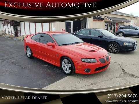 2005 Pontiac GTO for sale at Exclusive Automotive in West Chester OH