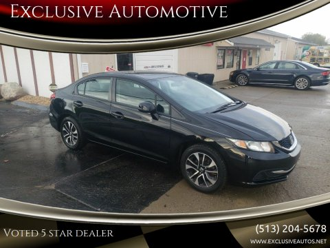 2013 Honda Civic for sale at Exclusive Automotive in West Chester OH