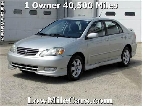 2003 Toyota Corolla for sale at A1 Auto Sales in Burr Ridge IL