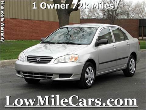 2004 Toyota Corolla for sale at A1 Auto Sales in Burr Ridge IL