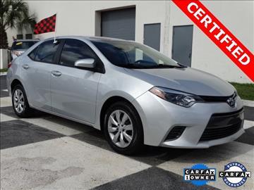 Toyota Corolla For Sale Miami Fl