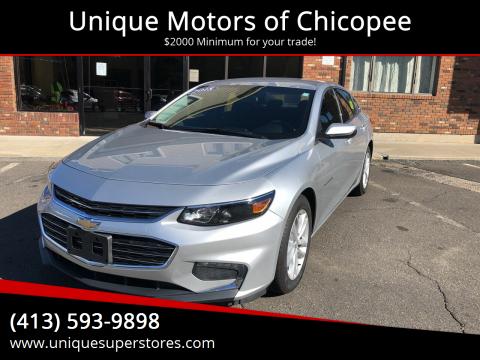 2018 Chevrolet Malibu for sale at Unique Motors of Chicopee in Chicopee MA
