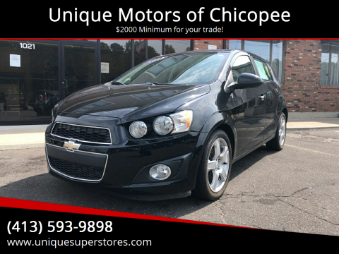 2012 Chevrolet Sonic for sale at Unique Motors of Chicopee in Chicopee MA