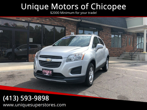 2016 Chevrolet Trax for sale at Unique Motors of Chicopee in Chicopee MA