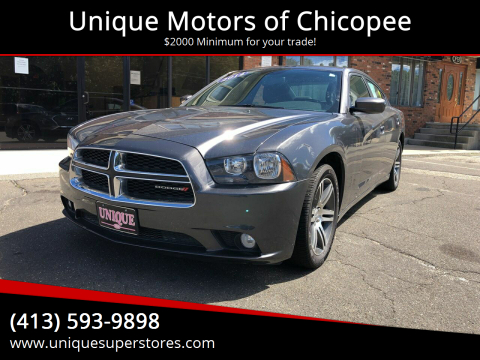 2014 Dodge Charger for sale at Unique Motors of Chicopee in Chicopee MA