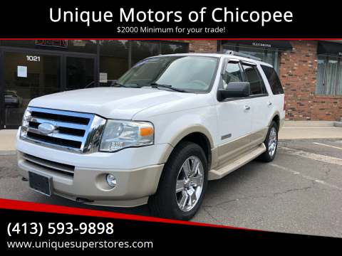 2007 Ford Expedition for sale at Unique Motors of Chicopee in Chicopee MA