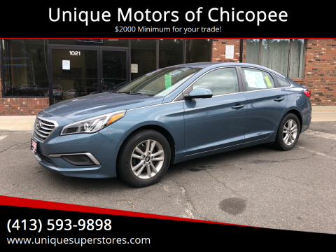 2017 Hyundai Sonata for sale at Unique Motors of Chicopee in Chicopee MA