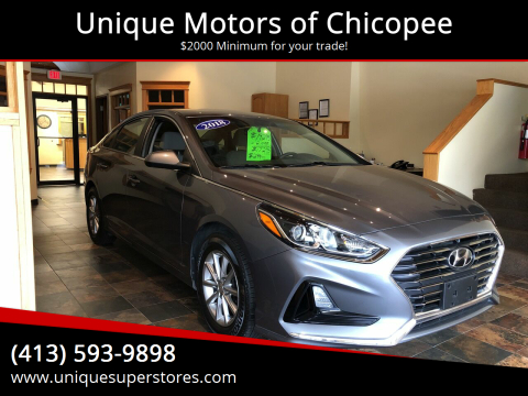 2018 Hyundai Sonata for sale at Unique Motors of Chicopee in Chicopee MA