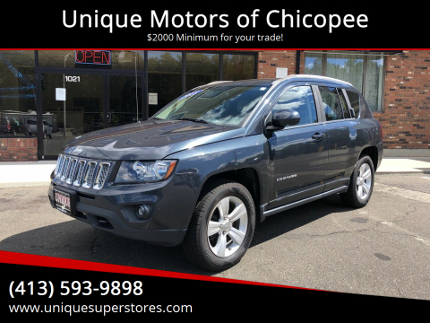 2015 Jeep Compass for sale at Unique Motors of Chicopee in Chicopee MA