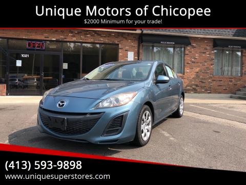 2011 Mazda MAZDA3 for sale at Unique Motors of Chicopee in Chicopee MA