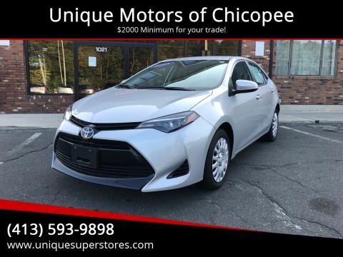 2018 Toyota Corolla for sale at Unique Motors of Chicopee in Chicopee MA