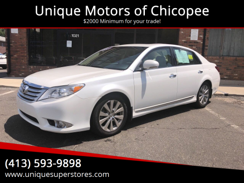 2012 Toyota Avalon for sale at Unique Motors of Chicopee in Chicopee MA