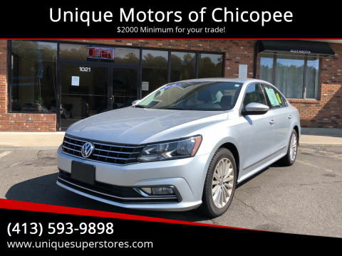 2016 Volkswagen Passat for sale at Unique Motors of Chicopee in Chicopee MA