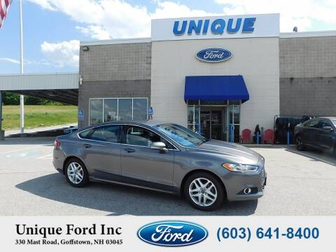 2014 Ford Fusion for sale at Unique Motors of Chicopee - Unique Ford in Goffstown NH