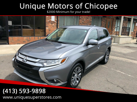 2018 Mitsubishi Outlander for sale at Unique Motors of Chicopee in Chicopee MA