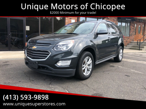 2017 Chevrolet Equinox for sale at Unique Motors of Chicopee in Chicopee MA