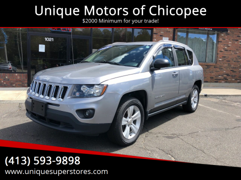 2016 Jeep Compass for sale at Unique Motors of Chicopee in Chicopee MA