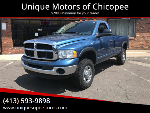 2005 Dodge Ram Pickup 2500 for sale at Unique Motors of Chicopee in Chicopee MA