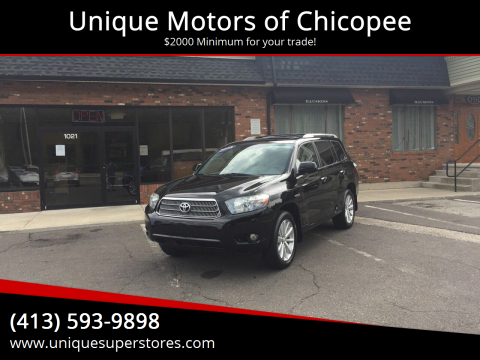 2008 Toyota Highlander Hybrid for sale at Unique Motors of Chicopee in Chicopee MA