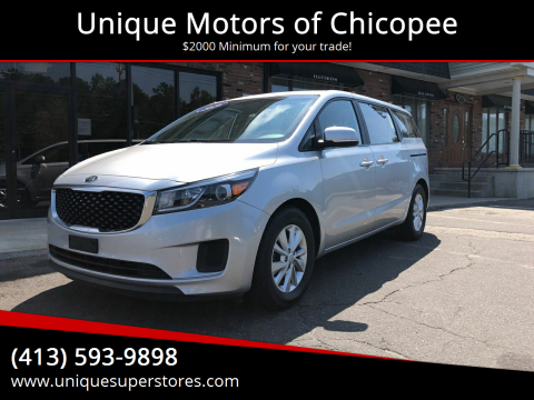 2016 Kia Sedona for sale at Unique Motors of Chicopee in Chicopee MA