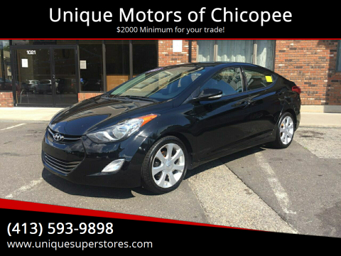 2013 Hyundai Elantra for sale at Unique Motors of Chicopee in Chicopee MA